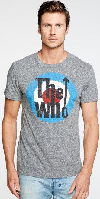 The Who Target Logo Men's Gray Vintage Fashion T-shirt by Chaser - front