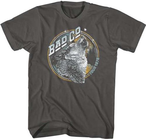 Bad Company Tour 1976 Men's Unisex Gray Vintage Fashion Concert T-shirt