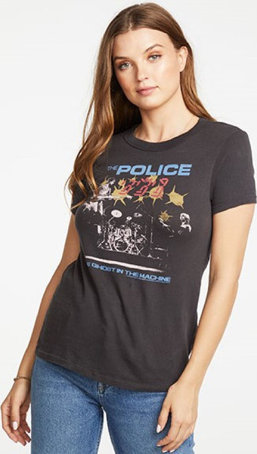 The Police Ghost in the Machine Women's Black Vintage Fashion Concert T-shirt by Chaser - side