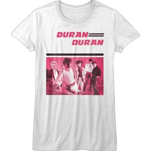 Duran Duran Debut Album Cover Artwork Women's White Vintage Fashion T-shirt