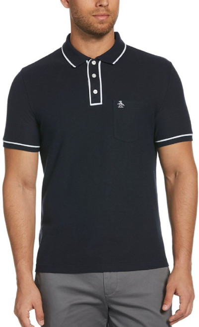 Original Penguin by Munsingwear Earl Men's Navy Blue Fashion Polo Shirt