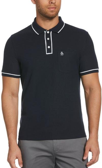Original Penguin by Munsingwear Earl Men's Navy Blue Fashion Polo Shirt