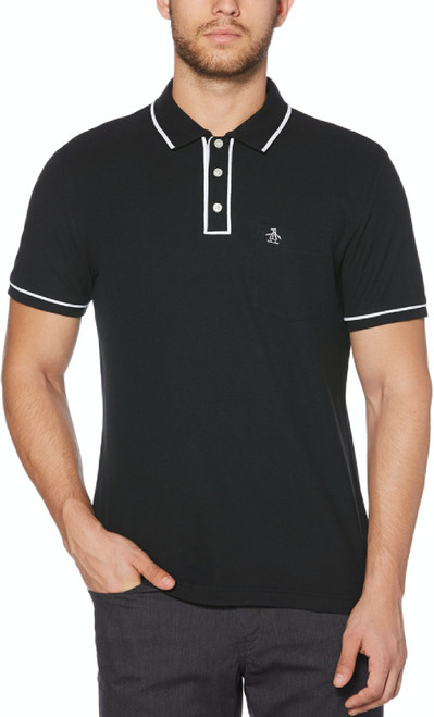 Original Penguin by Munsingwear Earl Men's Black Fashion Polo Shirt