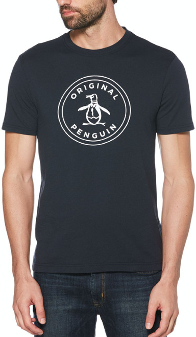 Original Penguin by Munsingwear Logo Men's Unisex Navy Blue Fashion T-shirt