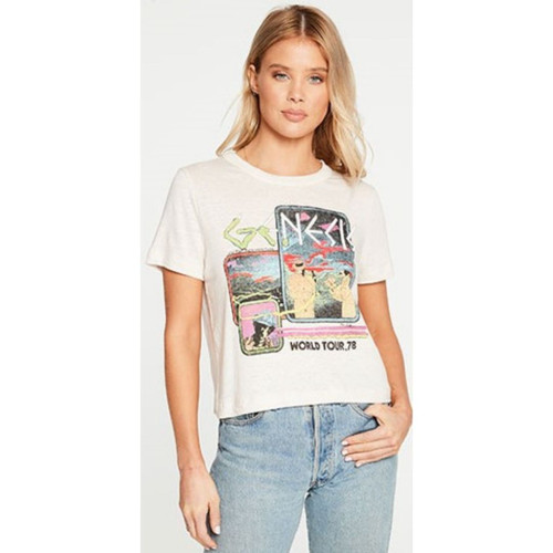 Genesis World Tour '78 Women's White Vintage Fashion Cropped Concert T-shirt by Chaser