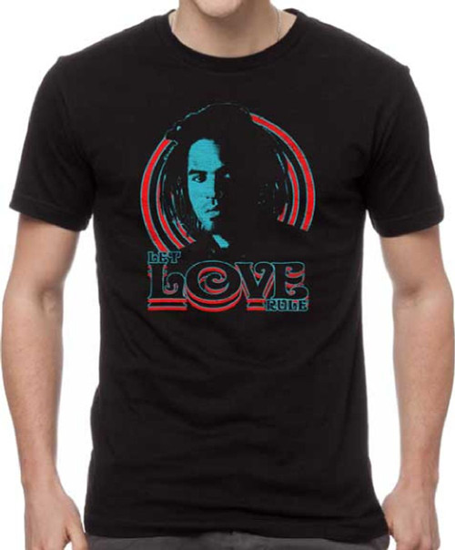 Lenny Kravitz Let Love Rule Album and Song Title Men's Unisex Black Vintage Fashion T-shirt