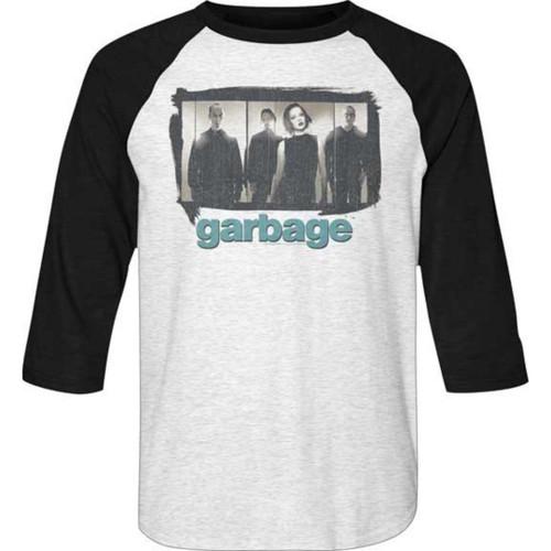Garbage Alternative Rock Band Photograph Unisex Vintage White and Black Baseball Jersey Raglan T-shirt