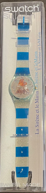 Swatch Watch GZ-161 Centre Georges Pompidou La Sirene et Le Marin by Pierre et Gilles Vintage Unisex Fashion Watch - front