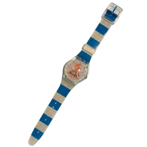Swatch Watch GZ161 Centre Georges Pompidou La Sirene et Le Marin by Pierre et Gilles Vintage Unisex Fashion Watch - front