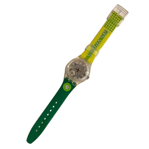Swatch GK209I Las Vegas Destination Series 1998 Original Transparent Vintage Unisex Fashion Watch - front