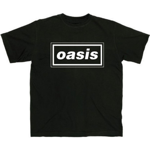 Oasis Rock Band Logo Men's Unisex Black Fashion T-shirt