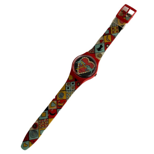 Swatch GR118 Bark Bark by Louise Gibb Vintage Unisex Fashion Watch - front