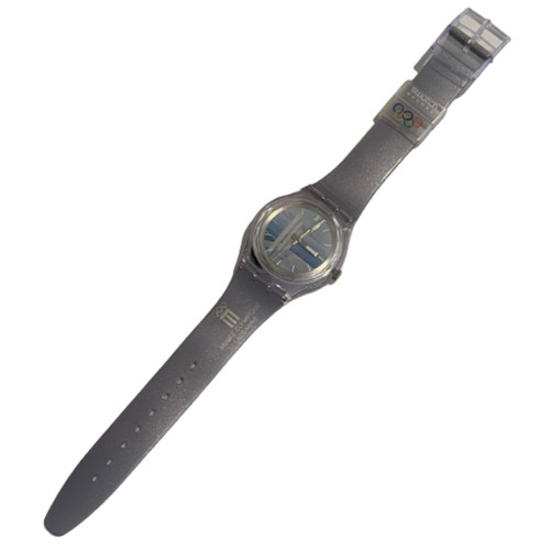 Swatch SKZ118 Musee Olympique Access Vintage Unisex Fashion Watch - front