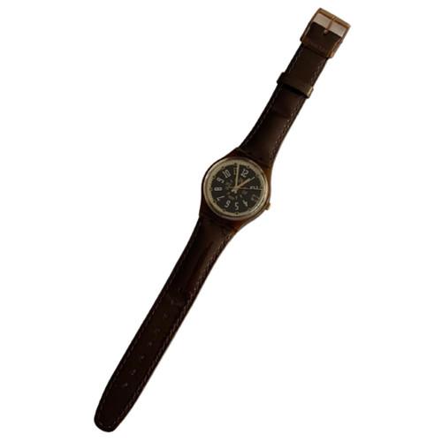 Swatch GF400 Coffee Mill Vintage Unisex Fashion Watch - front