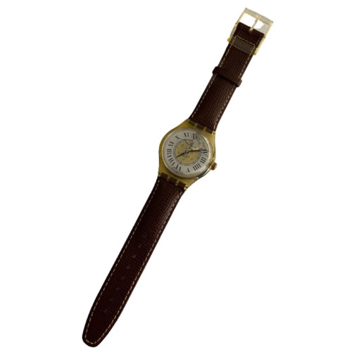 Swatch SAJ100 Missing Vintage Automatic Movement Unisex Fashion Watch - front