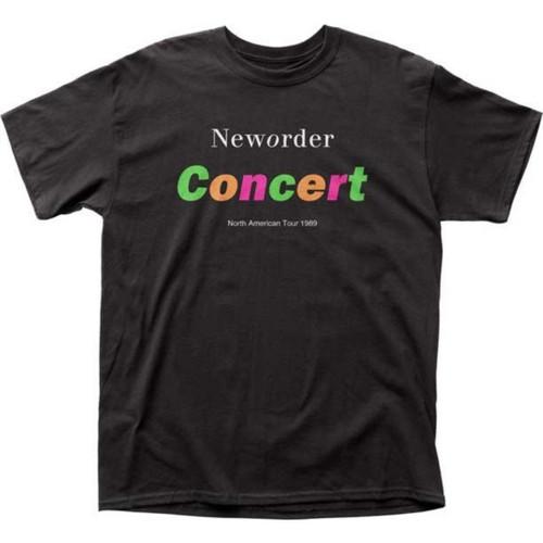 New Order North American Tour 1989 Men's Unisex Black Fashion Concert T-shirt