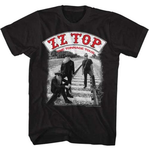 ZZ Top The Tonnage Tour Men's Unisex Black Concert T-shirt