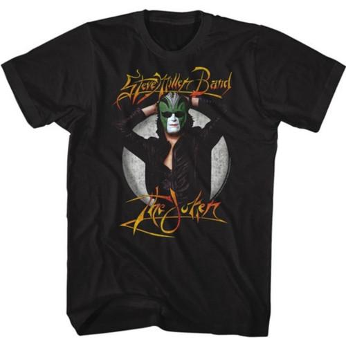 Steve Miller Band The Joker Album Cover Artwork Men's Unisex Black Vintage Fashion T-shirt