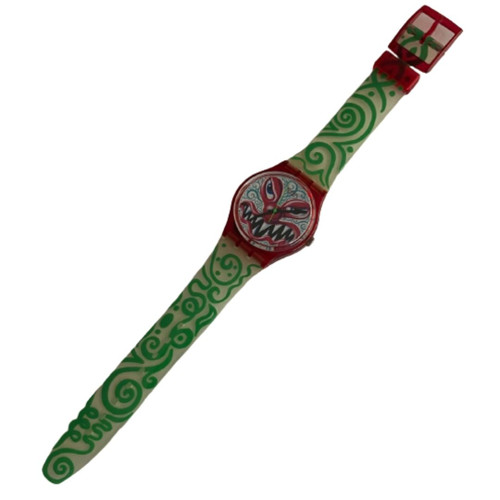 Swatch GR121 Monster Time by Kenny Scharf Vintage Unisex Fashion Watch - front