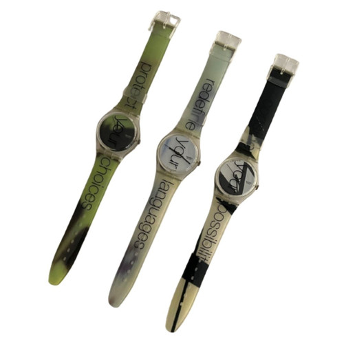 Swatch Watch GK228PACK Messages Vintage Unisex Gift Pack - watches front