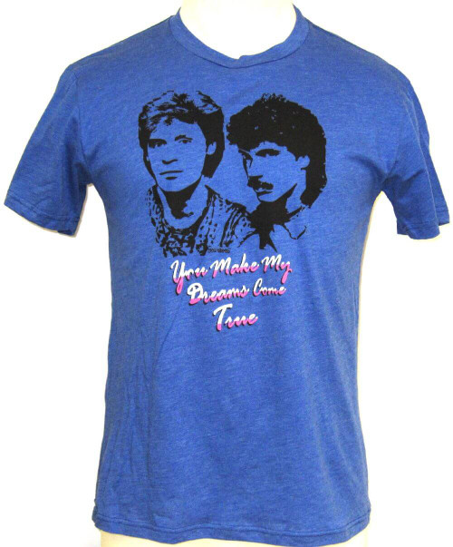Hall & Oates You Make My Dreams Come True Song Title Men's Unisex Vintage Blue Fashion T-shirt