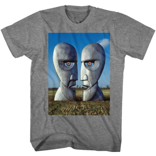 Pink Floyd Division Bell Album Cover Artwork Men's Unisex Gray Fashion T-shirt