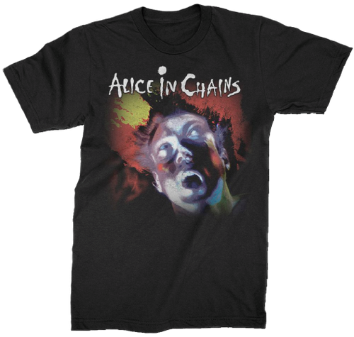 Alice In Chains Facelift Album Cover Artwork Men's Black T-shirt