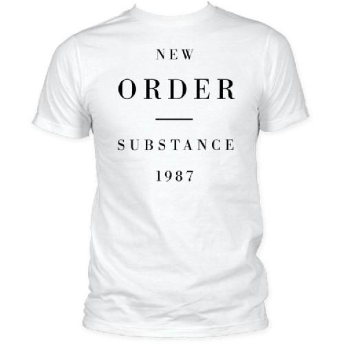 New Order Substance 1987 Album Cover Artwork Men's Unisex White Fashion T-shirt