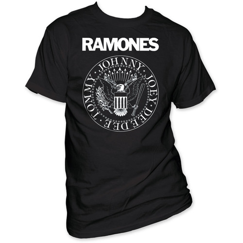 Ramones Presidential Seal Logo Men's Black T-shirt