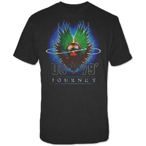 Journey US 1979 Tour Men's Unisex Vintage Black Fashion Concert T-shirt