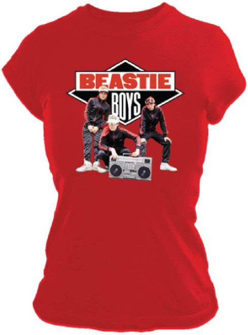 Beastie Boys Solid Gold Hits Album Cover Artwork Women's Red T-shirt