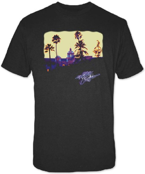 Eagles Hotel California Album Cover Artwork Men's Black T-shirt