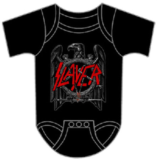 Slayer Eagle Logo Baby Onesie Infant Romper Suit in Black