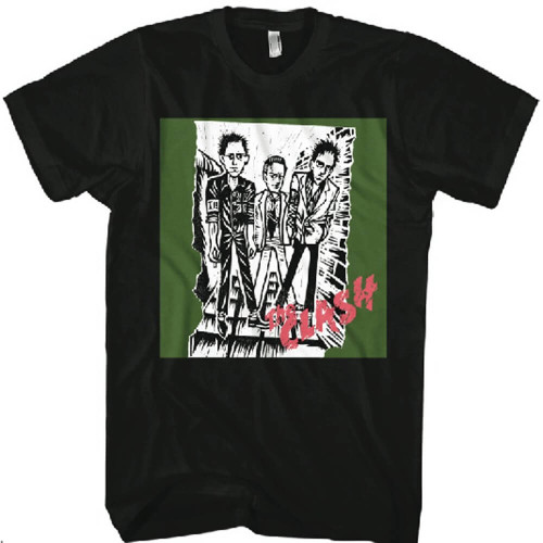 The Clash Debut Album Cover Animated Artwork Men's Black T-shirt