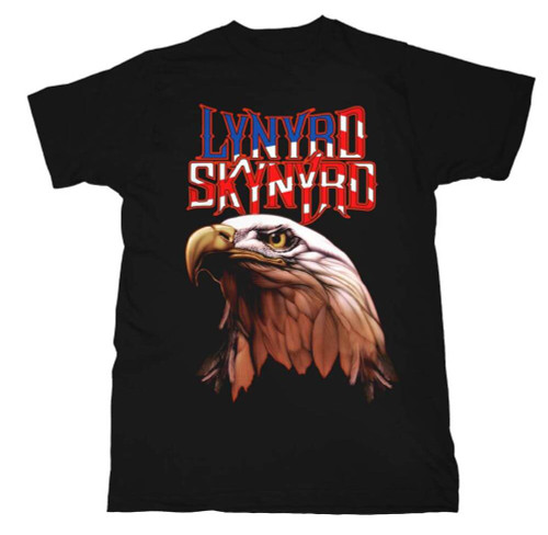 Lynyrd Skynyrd American Bald Eagle Logo Men's Black T-shirt
