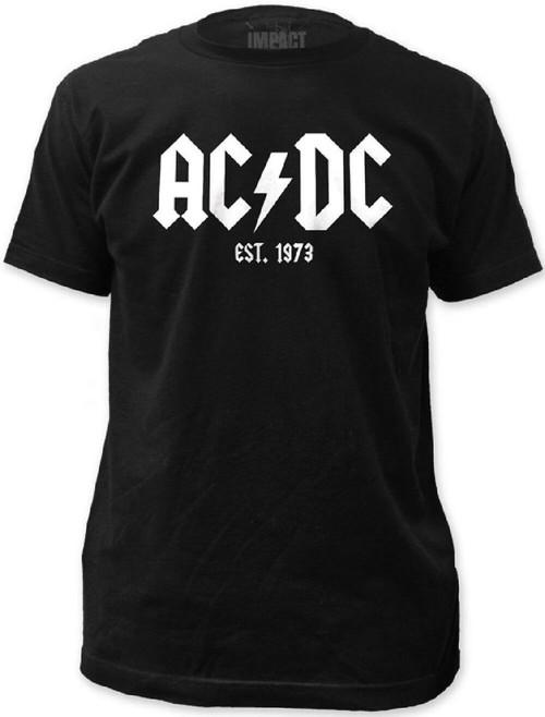 AC/DC Logo Established 1973 Men's Black T-shirt
