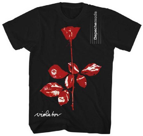 Depeche Mode Violator Album Cover Artwork Men's Black T-shirt