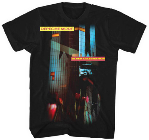Depeche Mode Black Celebration Album Cover Artwork Men's Black T-shirt