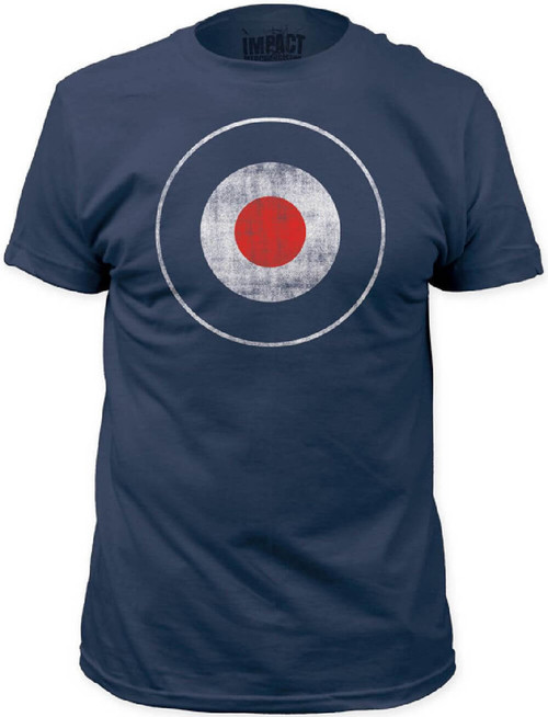 Bulls Eye Target Logo Men's Navy Blue Vintage T-shirt