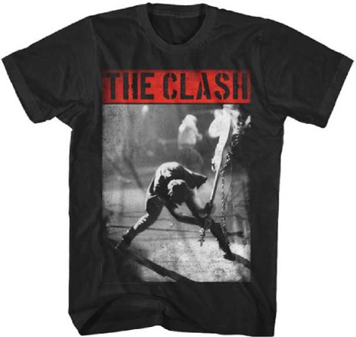 The Clash London Calling Album Cover Artwork Men's Vintage T-shirt