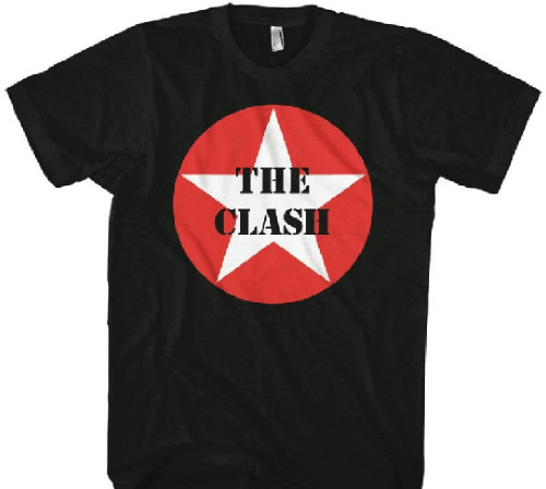 The Clash Military Star Logo Men's Black T-shirt