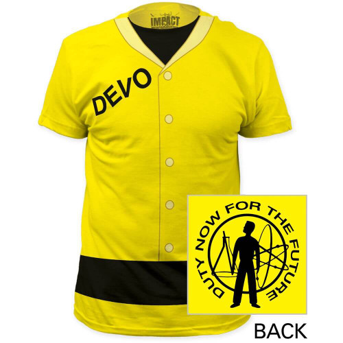 Men's Yello Devo Radiation Suit Costume T-shirt with Duty Now for the Future Album Cover Artwork