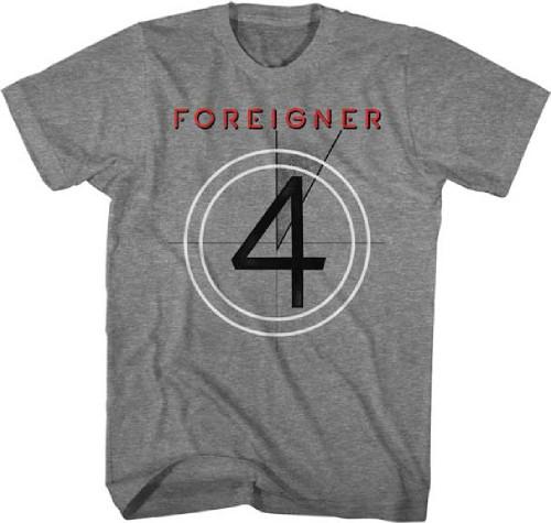 Foreigner 4 Album Cover Artwork Men's Unisex Gray Vintage T-shirt