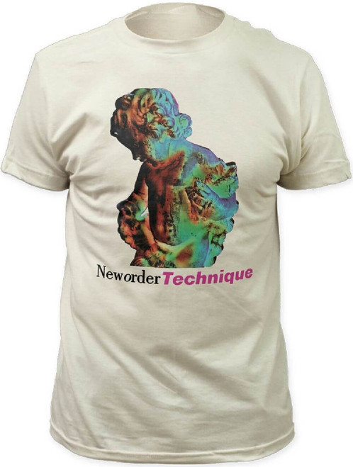 New Order Technique Album Cover Artwork Men's Unisex White Fashion T-shirt