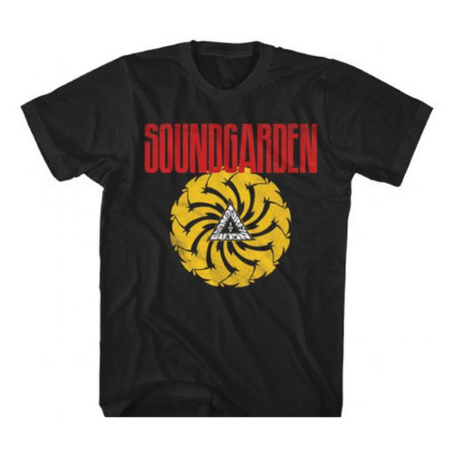 Soundgarden Badmotorfinger Album Cover Artwork Men's Unisex Black Vintage T-shirt