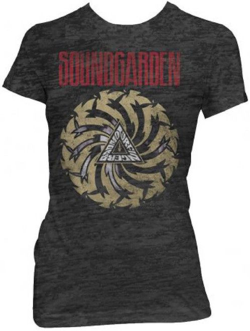 Soundgarden Badmotorfinger Album Cover Artwork Women's Black Vintage T-shirt
