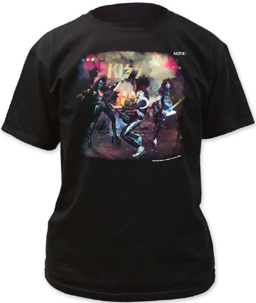 KISS Alive! vintage Album Cover Art Men's Black T-shirt