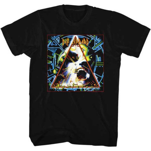 Def Leppard Hysteria Album Cover Artwork Men's Unisex Black Fashion T-shirt
