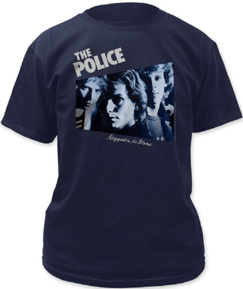 The Police Reggatta de Blanc Album Cover Artwork Men's Blue T-shirt