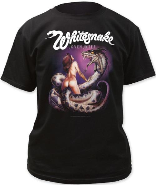 Whitesnake Lovehunter Album Cover Artwork Men's Black T-shirt